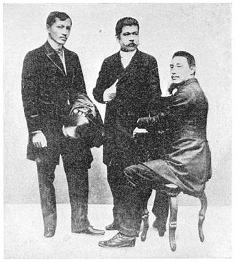Three Members of La Solidaridad - Rizal, Del Pilar, Mariano Ponce