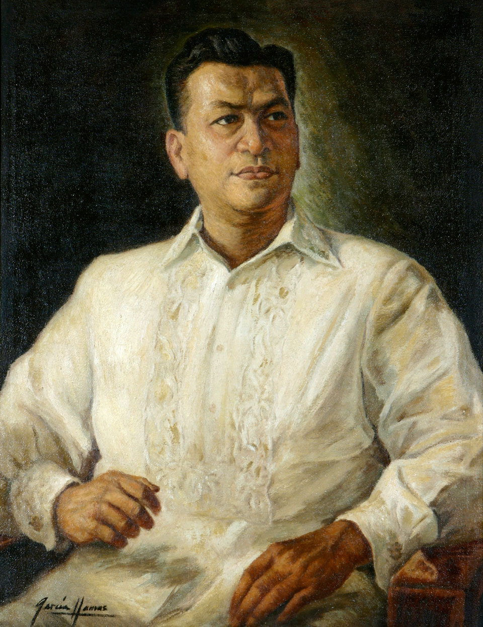 President Magsaysay in Barong Tagalog