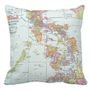 Philippine Map on Pillow