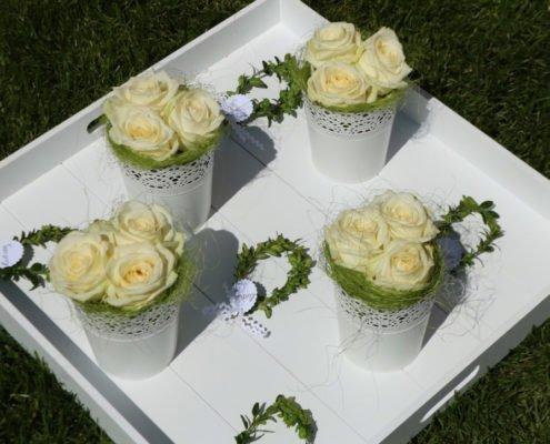 Blumen Deko Taufe Hochzeit