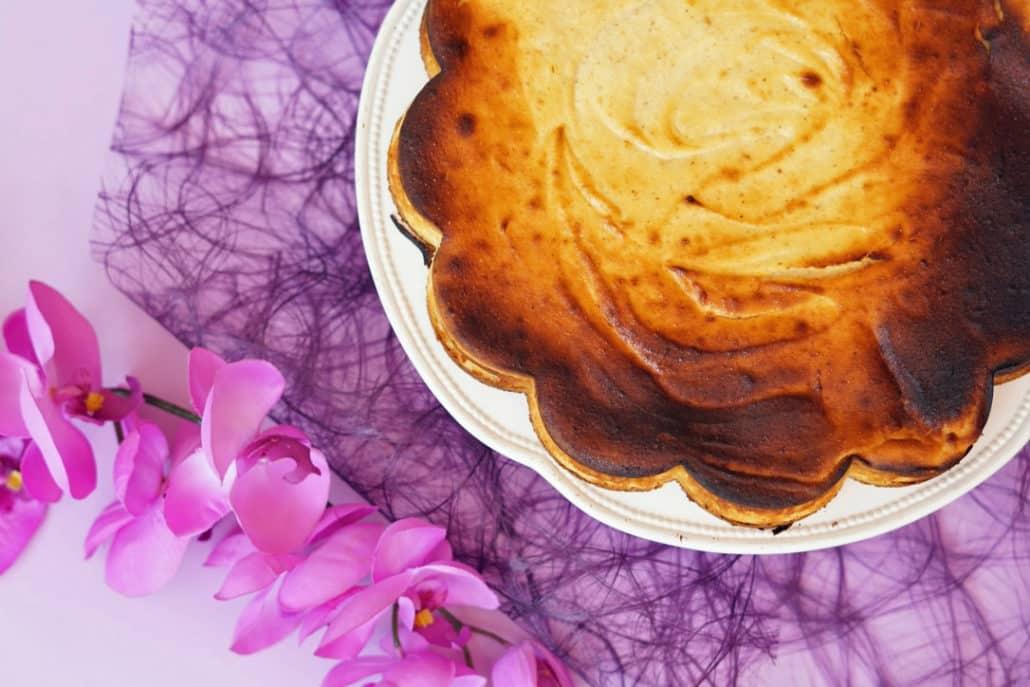 Käsekuchen Quarkkuchen ohne Boden mit Grieß
