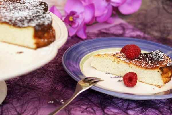 Quarkkuchen Kaesekuchen ohne Boden