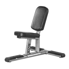 Gym Bench Press Chair Blue Accent Tag Utility Fitness
