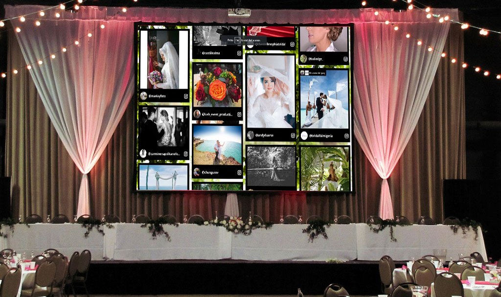 Best Way To Display Photos In Weddings Using Social Walls