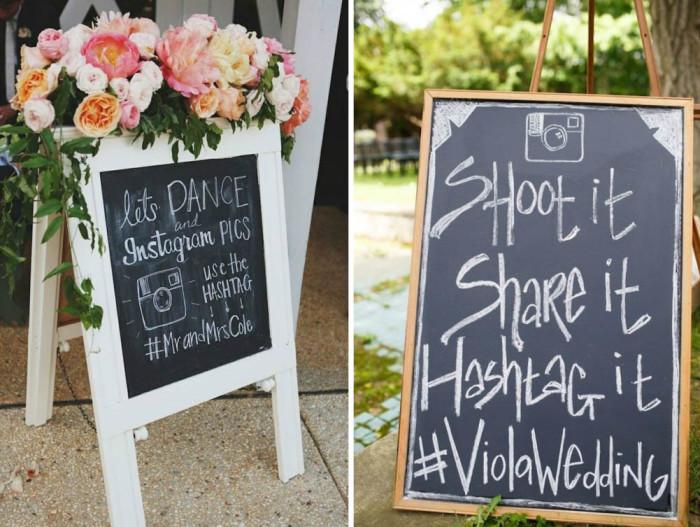 wedding tweet wall hashtags