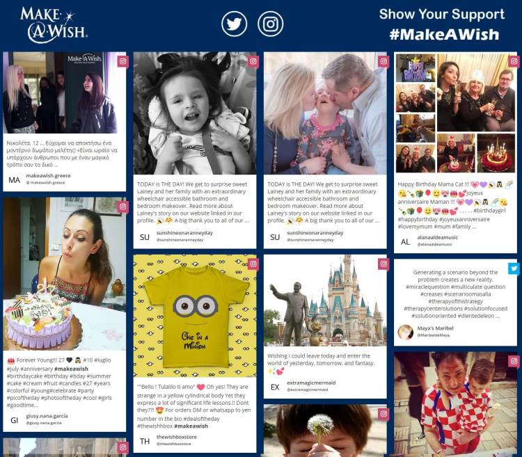 MakeAWish Hashtag Campaigns