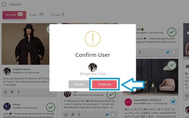 Block user Moderation confirm