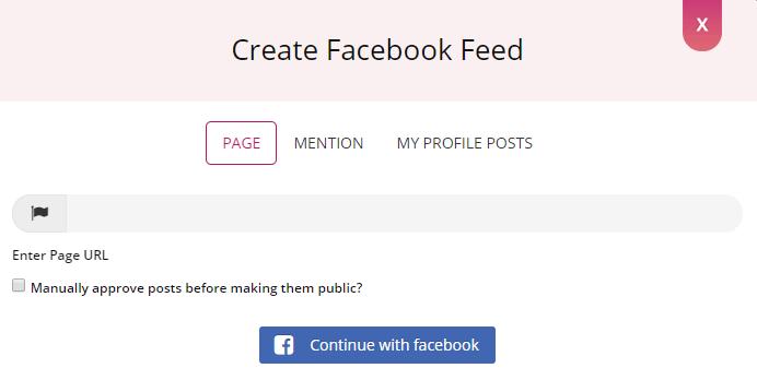 Create Facebook Feed