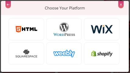 Choose embed platform
