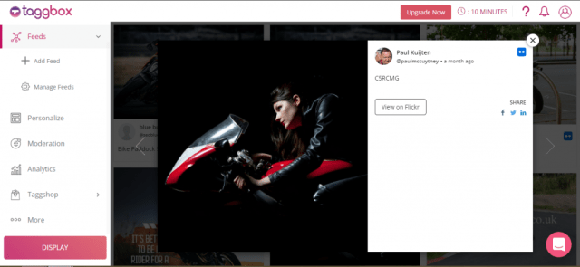 Flickr social feed post