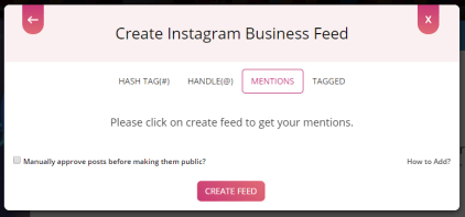 Create Instagram Feed with mention