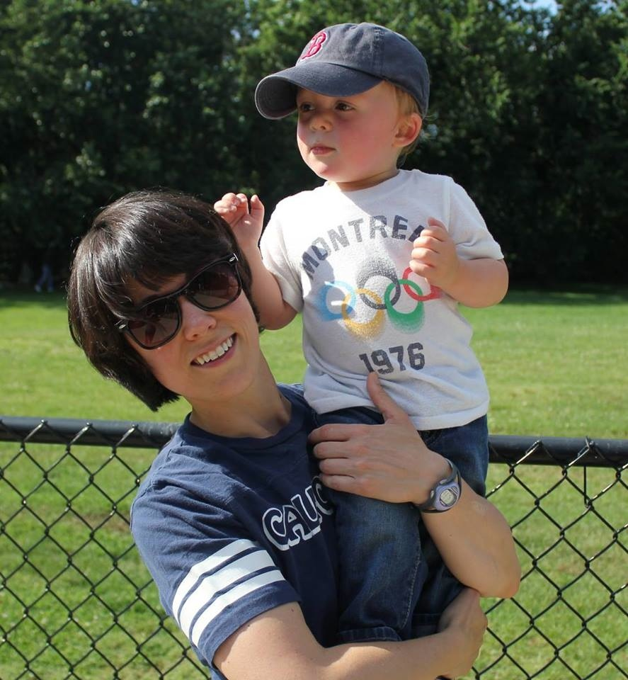 Brianne Croteau and Son