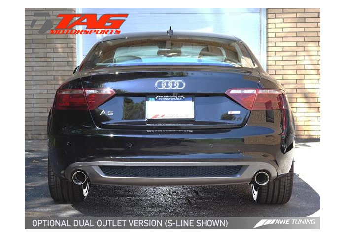 awe tuning audi a5 2 0t catback dual exhaust system coupe cabrio