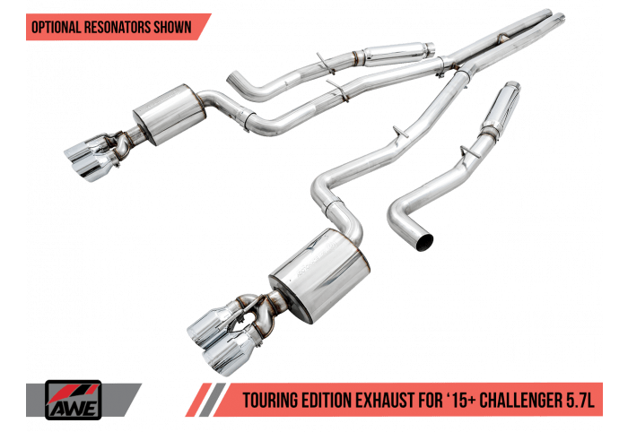 awe 15 challenger rt 5 7 performance exhaust suite