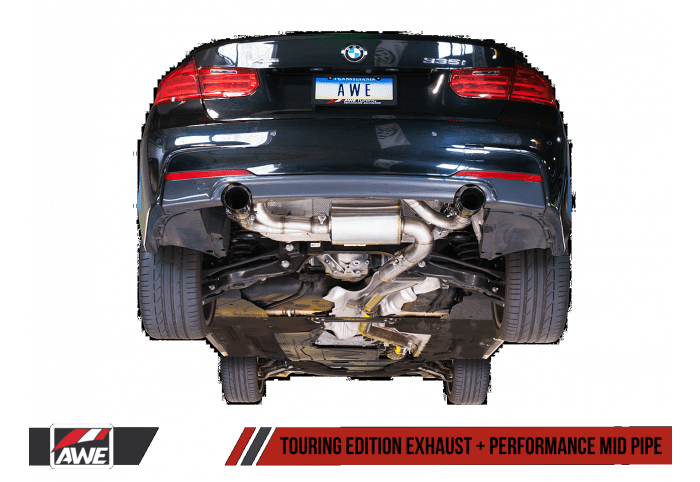 awe tuning bmw f3x 335i 435i touring edition axle back exhaust