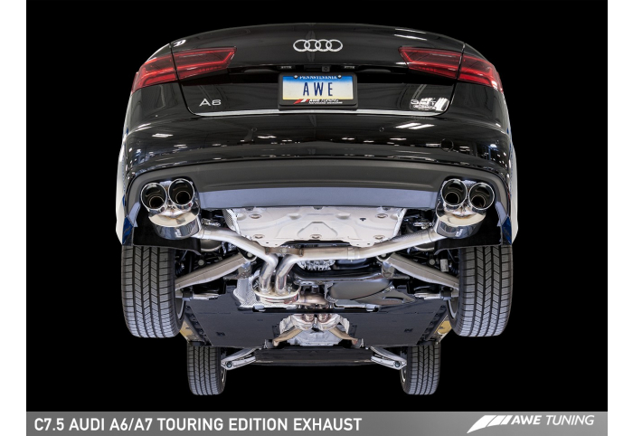 awe tuning audi a6 3 0t c7 5 exhaust suite