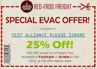 Special Evac Offer