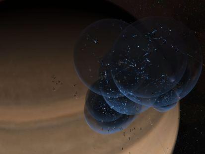The bubbles, sans titan