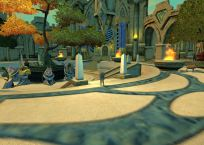 On the grounds of the Revelry & Honor guild hall