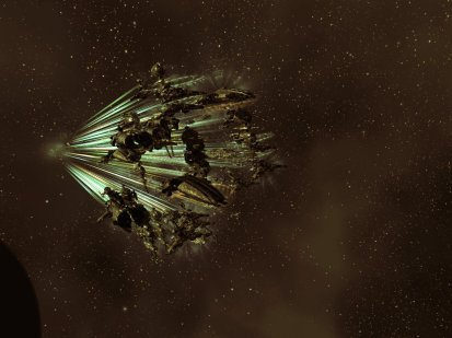 Our fleet arriving at the incursion