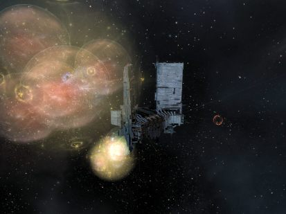 Battle and bubbles behind the Keepstar