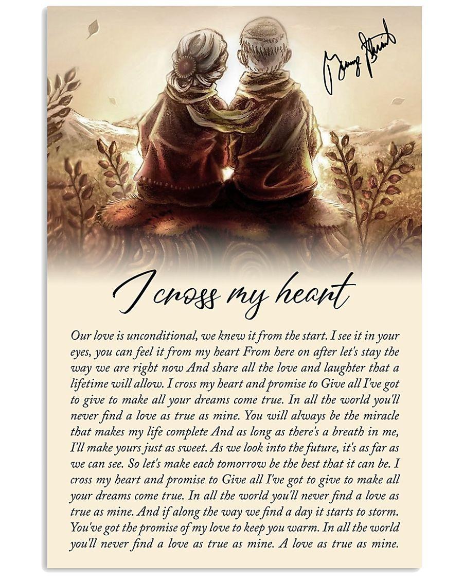 i cross my heart lyrics poster