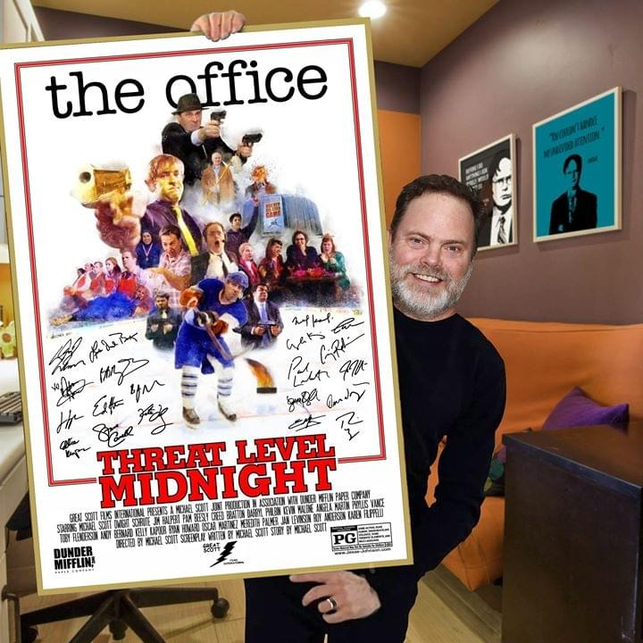 the office threat level midnight poster