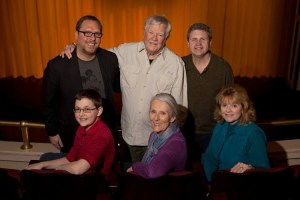 James Best (standing, center) and Dorothy Best (seated, far right) and the cast of On Golden Pond.