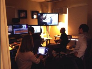 This is photo from the editing room for In the Heart of the Sea that Ron Howard recently tweeted.  Follow Ron on Twitter at @RealRonhoward.
