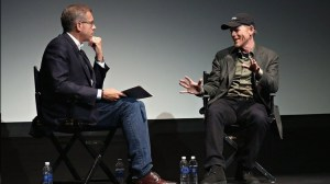 Brian Williams and Ron during their Q&A at the Tribeca Film Festival.  Next up for the NBC Nightly News anchor...his interview with Edward Snowden.