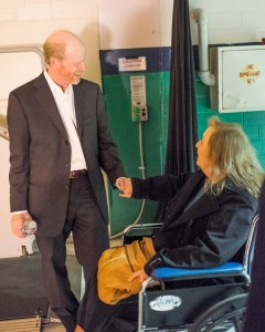 Ron Howard and Betty Lynn had a moment for a private following Ron's Bryan Series lecture in Greensboro.  Photo by Hobart Jones.