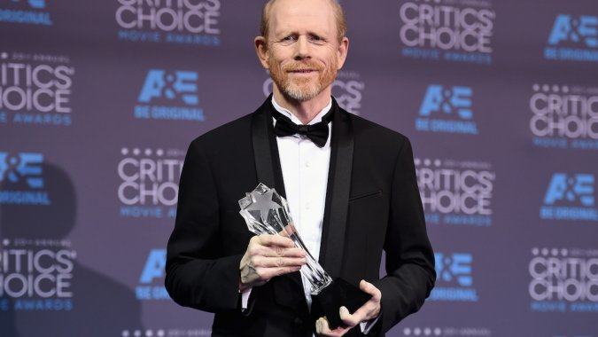 Ron with his Genius award at this month's Critics' Choice Movie Awards.