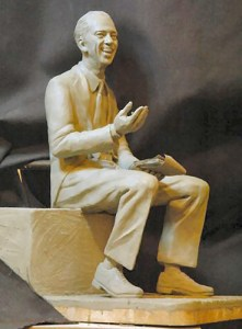 FRIENDLY GESTURE-Model for the Don Knotts statue in Morgantown, W.V., by local sculptor Jamie Lester.