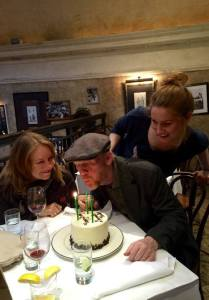 Ron celebrated his 61st birthday with wife Cheryl on March 1.  Ron tweeted this photo.  Follow him on Twitter under the handle @RealRonHoward.