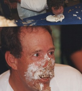 O-PIE INHALER--Shelton might have ended up with more pie on his face than in his belly at the Mayberry Days Pie-Eating Contest in 1996, but no one competed with more heart.