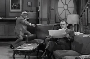 DRAWING CONCLUSION--Barney gets the drop on Al Checco (as Hennessey), who later returns the favor with drops of his own for Barney.