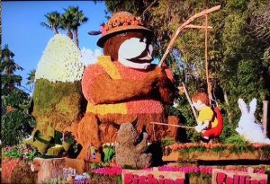 CATCH OF THE DAY--While this Rose Parade float bearly looked Mayberry, it sounded a lot like a familiar walk to the Fishin' Hole.