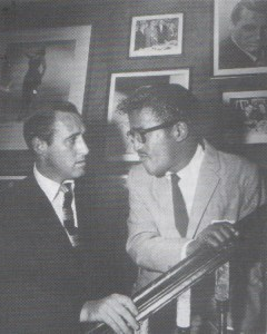 STAIRWAY STARES--Dick and friend Sammy Davis, Jr. were in step at New York City's chick Danny's Hideaway restaurant during the 1950s.