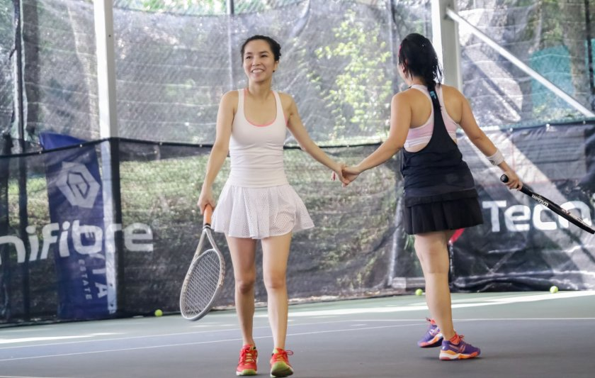 Ladies Tennis in Singapore: TAG International Tennis Academy @ Winchester Tennis Arena, ideal for ladies team training and the WITS and LTS tennis matches.