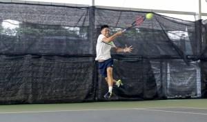 TAG Tennis Coach Michael Mantua with a semi-western grip Forehand