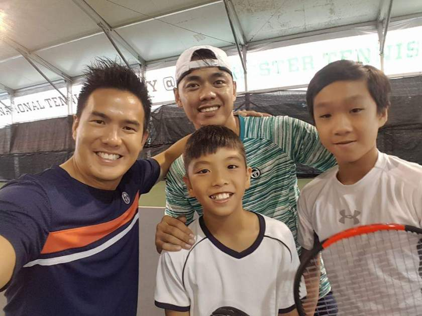 Competitive Junior Tennis Players at TAG International Tennis Academy, with their Tennis Coaches. Focused Tennis Lessons, specific Tennis Training Programs, and a lot of Tennis Competition and Tennis Tournaments are all keys to achieving success in Tennis in Singapore.