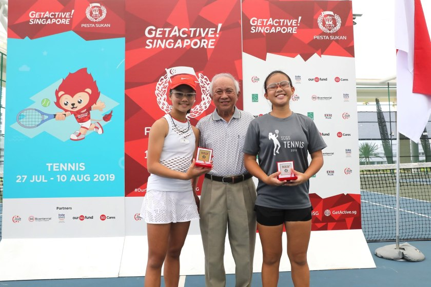 Rising stars of TAG International Tennis Academy - Charlotte Yeo and Sarah Chan