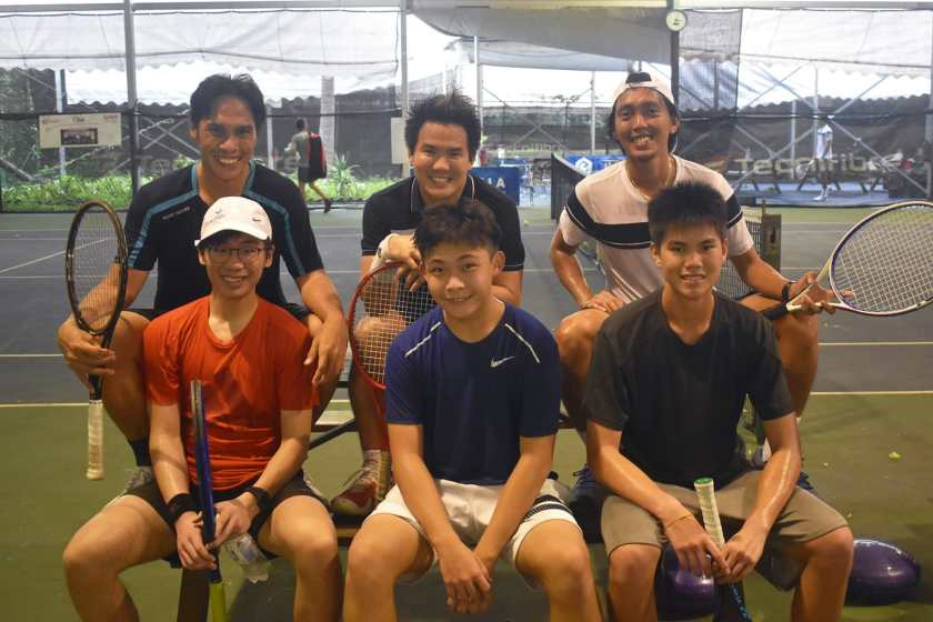 Top Competitive Junior Tennis Players in Singapore, Aaron Chiu, Ian Lai, Jordan and TAG Coaches, tennis lesson in singapore