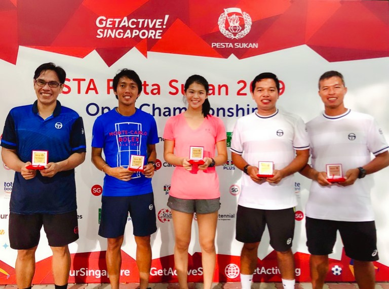TAG International Tennis Academy Coaches with Competitive Junior Player Joelle Goh