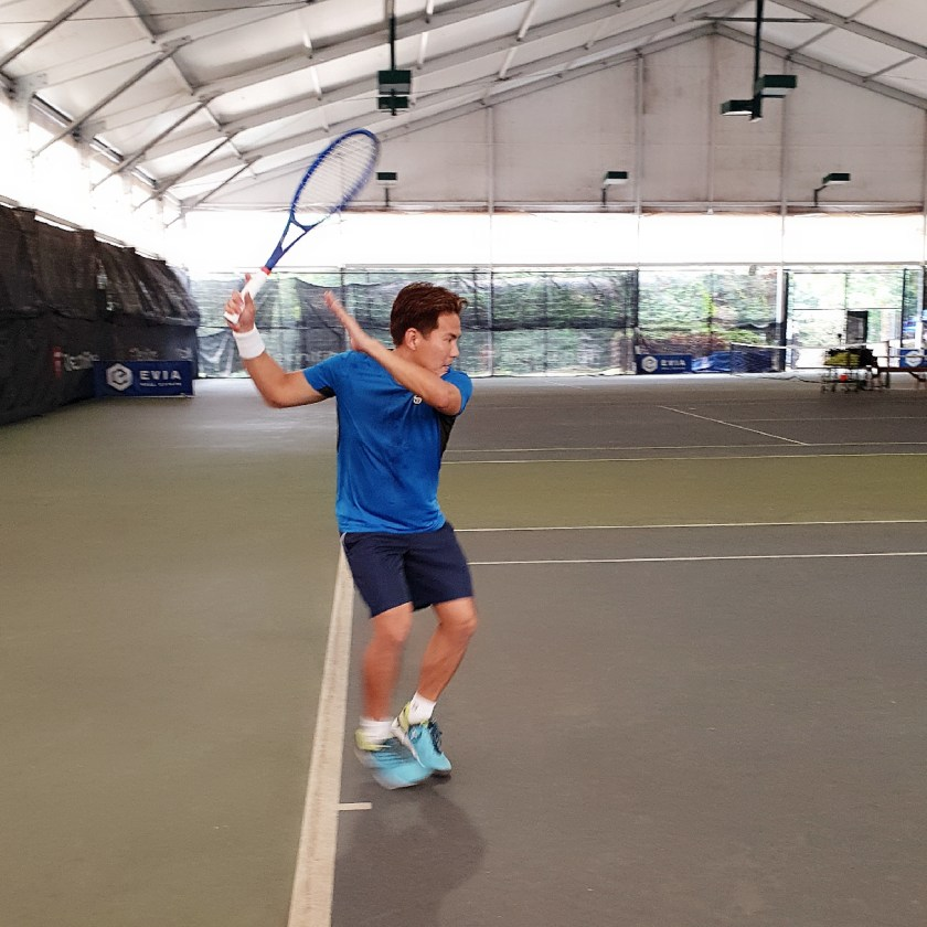 Coach X playtesting the Wilson Pro Staff Roger Federer Laver Cup Autograph Limited Edition 2019