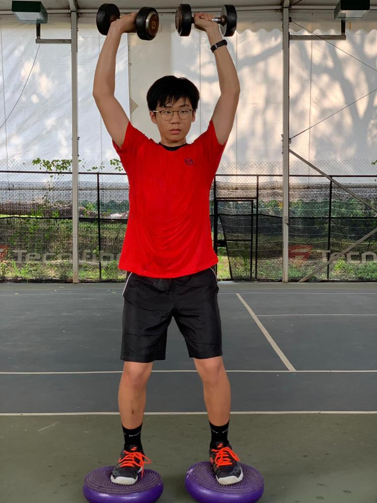 Aaron Chiu, Singapore Tennis Junior who practices at TAG International Tennis Academy