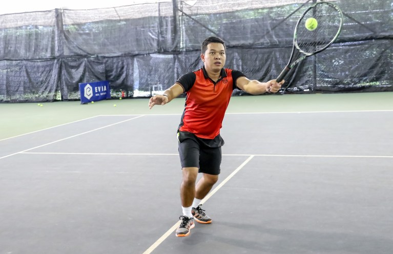 TAG Tennis Academy Coach Dave Forehand Volley