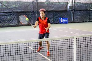Coach XT of TAG International wearing sergio tacchini tennis apparel