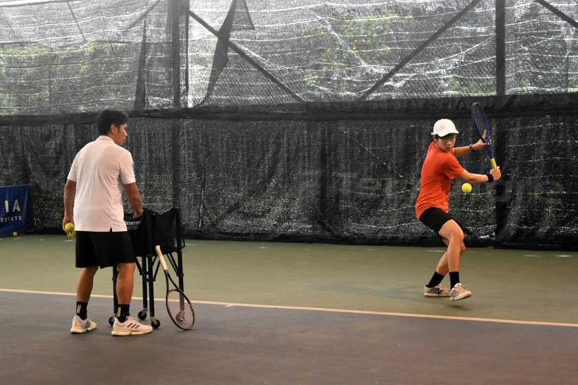Coach Bo with Top Competitive Junior Tennis Player Aaron Chiu