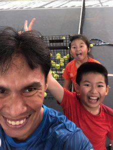 Coach Bo Alburo Lourelu Adlawan Mari coaching Siblings Ren Yi and Ren Qing